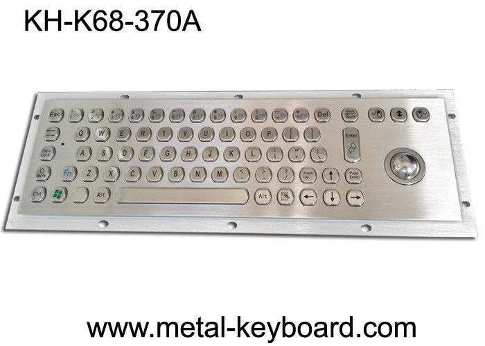 USB Self - Service Terminal Metal Computer Keyboard with Trackball