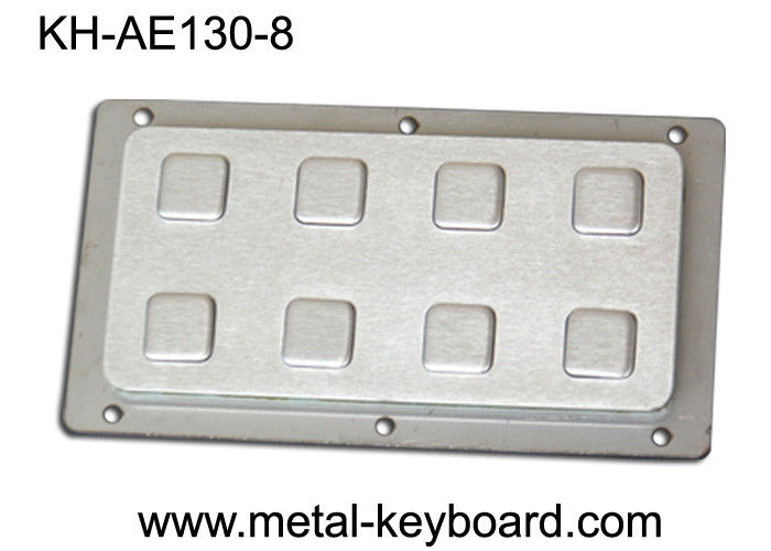IP65 8 Keys Industrial Rear Panel Mount Number Keypads Stainless Steel