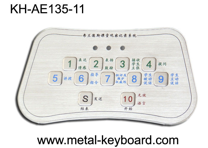 Stainless Steel Kiosk Keyboard , Custom Metal vandal proof keypad