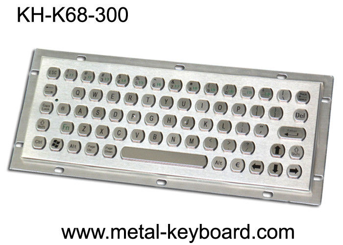SUS304 Metal Kiosk Industrial Computer Keyboard with IP65 Water Resistant