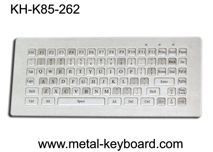 Water resistant stainless steel Industrial Metal Keyboard without mouse , 85 keys