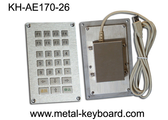 USB or PS/2 Interface Industrial Metal Keypad , 26 Keys Numeric Keypad