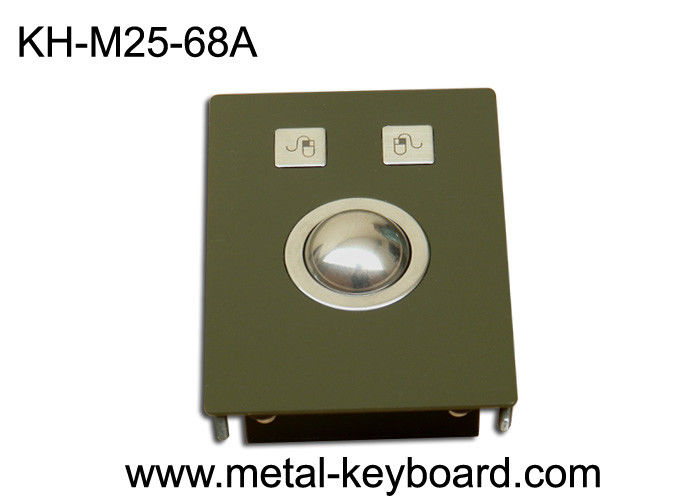 Laser Pointing Industrial Panel Mount Trackball Mouse , IP65 Rate Rugged Trackball