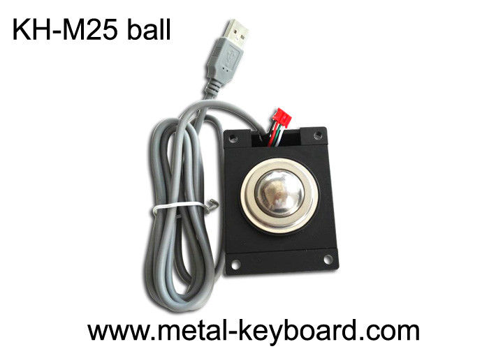 IP65 Rated Industrial Trackball Mouse , Stable 25MM Laser Trackball Module