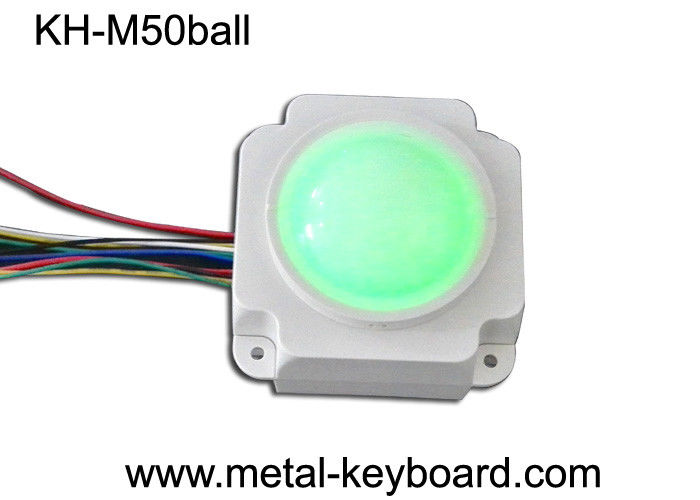 Backlit Resin Mechanical Medical Industrial Trackball Mouse , 50mm Trackball Module