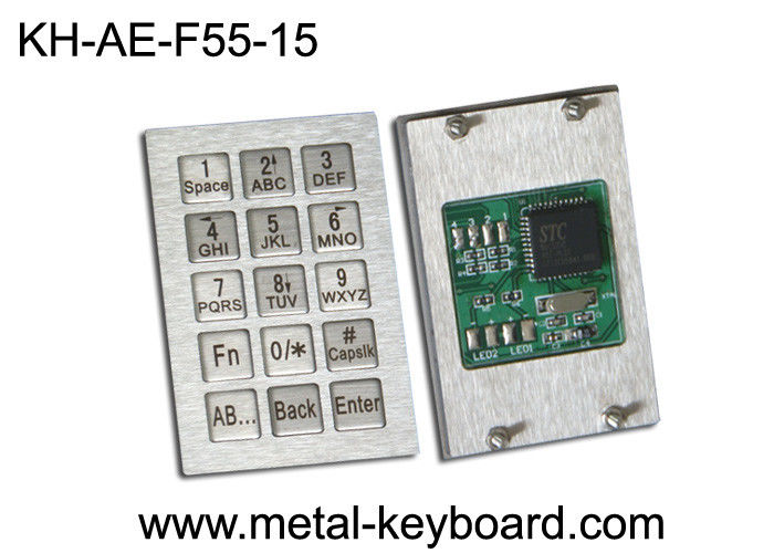 Vending Kiosk Metallic Industrial Keypad , Anti - vandal waterproof keypad