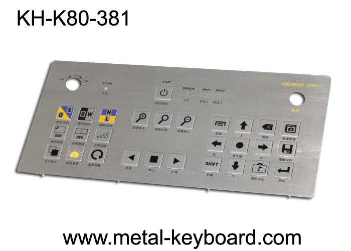 Vandal Proof Rugged Industrial Metal Keyboard Usb / Matrix Pins Connection