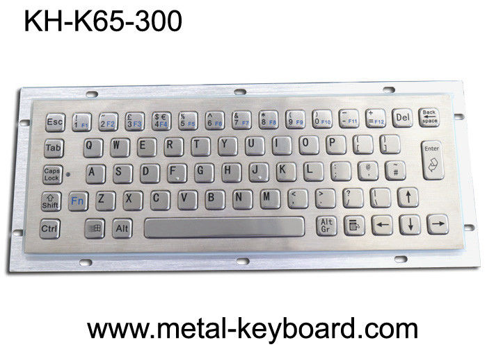 Ruggedized Industrial Metal Keyboard For Info Kiosk , Compact Entry SS Keyboard