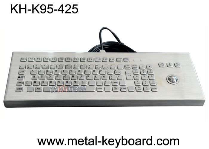 SS Desktop PC Ruggedized Keyboard 95 Keys USB Connection Plug 5 Years Lifespan