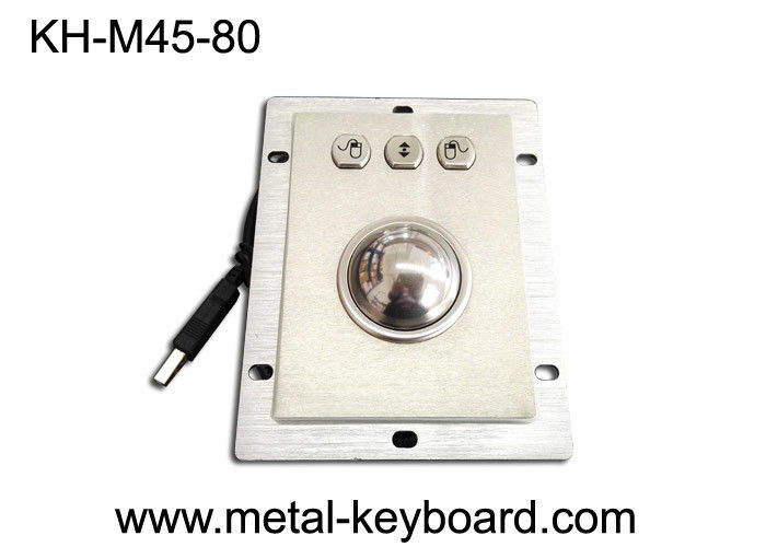 Waterproof Kiosk Trackball Pointing Device with 45MM Stainless Steel Trackball