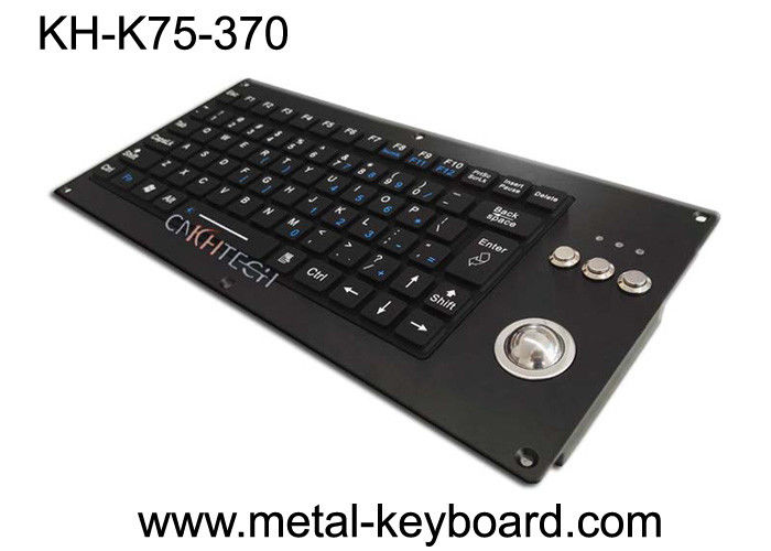 Silicone Ruggedized Keyboard Panel Mounted Vandal Resistant For Military / Transportation