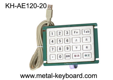 Anti Vandal Stainless steel keypad with custom layout , Panel mount Keypad