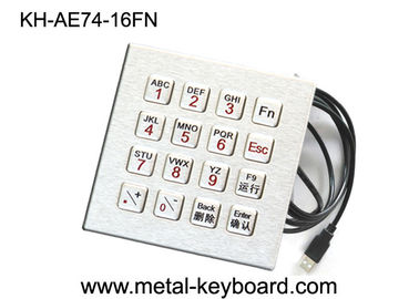 Full Function Computer Vandal Resistant Industrial Pc Keyboard In 16 Keys , Usb Interface